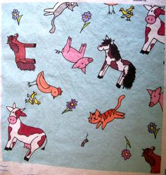 This is my farm animal print fabric. Available Here: http://www.spoonflower.com/fabric/3138206