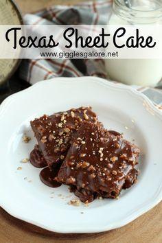 Texas Sheet Cake_Giggles Galore