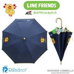 ร่มยาว 18 นิ้ว SET A1 สีกรม Sticker Line Umbrella (ร่มสติ๊กเกอร์ไลน์) Line id: rdumbrella หรือ portrain www.rdumbrella.com