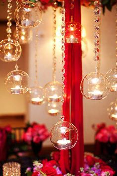 120mm Glass Hanging Candle Holder Balls - Set of 6 - Flat Bottom