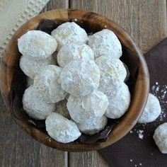 Mexican Wedding Cookie Balls-these are seriously the best.