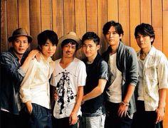 V6 Masayuki Sakamoto, Hiroshi Nagano, Yoshihiko Inohara, Go Morita, Ken Miyake and Junichi Okada