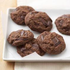 Double Dark Chocolate Cookies You don't even need to tell your kids the healthful benefits of dark chocolate and whole wheat in this drop cookie recipe. They'll just be delighted with the yummy lunch box treat.