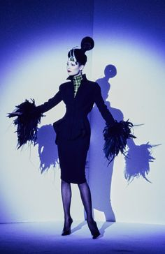 Mugler Fall 1995 Couture Fashion Show - Shalom Harlow