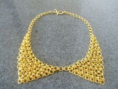 Peter Pan collar necklace Peter Pan chainmaille by Kostadinka, $49.00