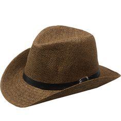9c07d1a9ea7 COWBOY HAT Men WOMEN Summer WESTERN Cowboy Straw Hat Cap +GIFT