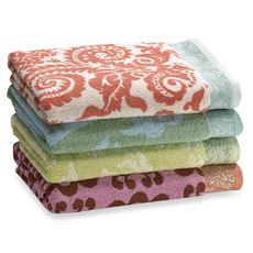 Amy Butler bath towels.