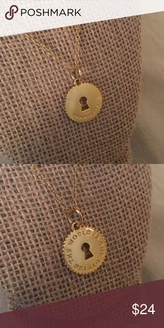 "India Hicks ""The world is our oyster"" Token The world IS your oyster! Remind yourself with a charm. Two sided Indi Token. Genuine 14kg electro plated gold. 22.5mm diameter, 3mm thickness.  Worn a handful of times, small showings of wear, only what you can see in the pictures. 15% bundle discount when paired with the chain (Chain Gang) or cord (Mr & Mrs Cord) in my closet! India Hicks Jewelry Necklaces"