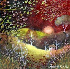 Strawberry sky art print by Amanda Clark by earthangelsarts