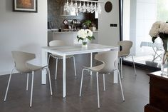 This is the Domitalia Echo chair with its contemporary style it would make a very unique dining chair and would be the focal point of your dining room, thanks to its wonderfully simplistic design.