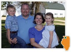 Meet the Andy & Katie Pratt Family. We raise corn, soybeans and seed corn on our farm in Dixon, IL. The family farm has been open to visitors, including non-farm neighbors, urban Chicago moms and teachers, and farmers from around the globe for more than 40 years.