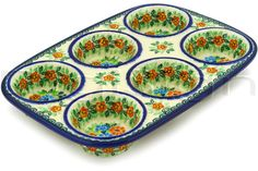 Polish Pottery Muffin Tin - NOT this pattern but need muffin pan!