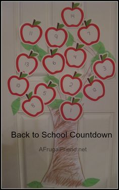 Back to School Countdown – Apple Tree (Tutorial) from A Frugal Friend