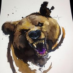 Victor Octavia no bear painting