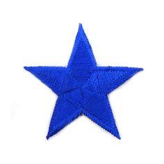 € 1,50 Patch - Strijkplaatje Ster konings blauw