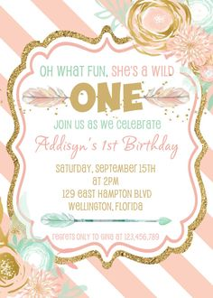 Pink Young Wild And Three Invitations And Printable Decor Pink