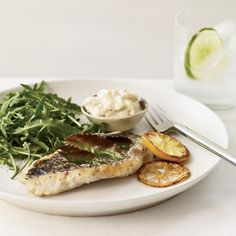 Herb-Broiled Fish with Lemon Aioli