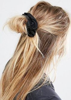 "All it takes is a scrunchie or ""hair cloud"" as they're now known to spruce up long hair"
