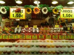 puesto de jugos@mercat de la boqueria