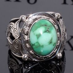 Ring Turquoise Silver Sterling 925 Mens Jewelry with natural Tibetan Turquoise #KaraJewels #Handcrafted