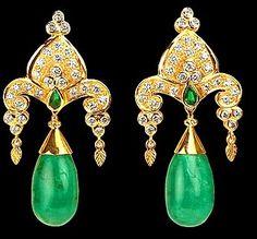 Paula Crevoshay, Colombian emerald and 18k yellow gold