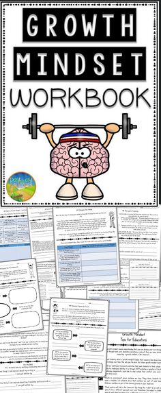 Growth Mindset Workbook that teaches hard work, dedication, grit, and more!