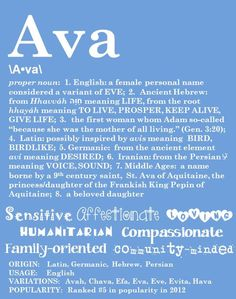 Items similar to AVA Personalized Name Print / Typography Print / Detailed Name Definitions / Numerology-calculated Destiny Traits / Educational on Etsy Ava Name, Bohemian Baby Names, What Baby Needs, Meaning Of Your Name, Proper Nouns, Meaningful Names, Unique Names, Typography Prints, Numerology