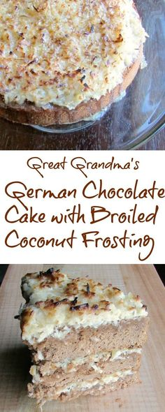 My Great Grandma made a delicious German Chocolate Cake.  Her coconut frosting is simple, but broiling it takes it to the next level! #Choctoberfest