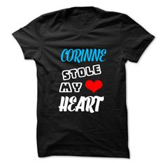 (Tshirt Best Choose) CORINNE Stole My Heart 999 Cool Name Shirt Discount Best Hoodies Tees Shirts