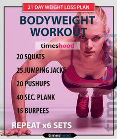 Bodyweight workout.   Posted By: CustomWeightLossProgram.com