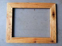 11x14 Oak Wood Frame, Handmade