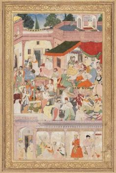 Birth of a Prince, perhaps Jahangir. Mughal period, ca. 1580. From the Museum of Fine Art, Boston.