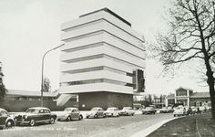 """furtho: """" Huig Aart Maaskant's Tomadohuis, Dordrecht, 1963 (via here) """" Family Roots, Space Architecture, Holland, Multi Story Building, Street View, Luxury, Modern, House, Design"""