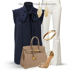 A fashion look from June 2013 featuring French Connection blouses, Alice + Olivia pants and Michael Antonio sandals. Browse and shop related looks.