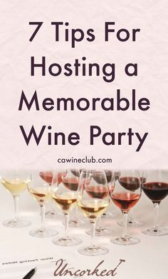 7 Tips For Hosting A Memorable Wine Party. {wine glass writer}