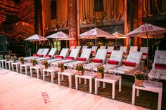 Lounge Chairs in the Lounge for sophisticated beach club theme © Michael Jurick