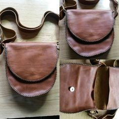 Bolso de cuero hecho a mano, 35€. Se hacen encargos. ¡Envío gratis!  #bolsos #cuero #artesania #hechoamano #artesanal