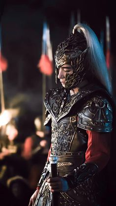 Chen Xing Xu in battle armor for Goodbye My Princess Chinese Armor, Chinese Man, Chinese Style, The Empress Of China, Bride Of The Water God, Martial Arts Movies, Knight In Shining Armor, Chinese Movies, Aesthetic Boy