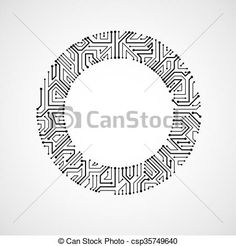 circuit board abstract circular background graphic design