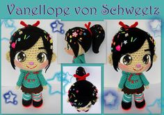 Vanellope crochet doll by annie-88