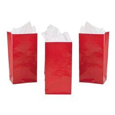 Mini Treat Bags - Red - OrientalTrading.com