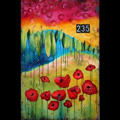 "ORIGINAL CANVAS - ""235"" by Donna Downey  I want this. Wow."