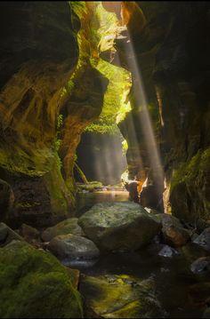 Slot canyon by Trent Blomfield (Wollemi National Park, Australia)