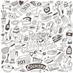 cookery doodles Stock Vector