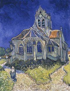 作  者:文森特·梵高 - vincent van gogh 作品名称:奥维尔教堂 - the church in auvers 作品尺寸:94 cm×74cm 作品年代:1890 作品材质:布面油画