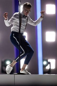 Mikolas Josef performs at Eurovision 2018 - Semifinal in Lisbon, Portugal 180508 Lisbon Portugal, Best Songs, To My Future Husband, Hot Guys, Crushes, Sporty, Poses, Actors, Mens Fashion