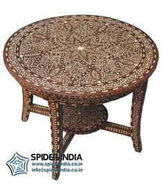Spider India - offering Vintage Rose Wood Bone Inlay Round Coffee Table at Rs in Jodhpur, Rajasthan. Industrial Furniture, Wooden Furniture, Vintage Furniture, Antique Sideboard, Vintage Roses, Teak, Chair, Antiques, Outdoor Decor