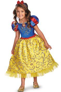 Attractive Disney Princess Snow White Sparkle Deluxe Child Costume