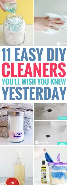 These 11 homemade cleaning products are so AMAZING! You'll never want to buy another store-bought cleaning product after trying these easy cleaner recipes. Definitely saving for later!
