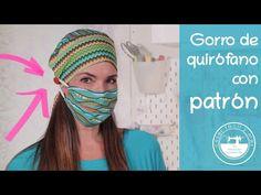 "Gorro de quirófano ""salvaorejas"" con patrón - YouTube Nurse Hat, Pb Teen, Country Decor, Captain Hat, Patches, Make It Yourself, Sewing, Hats, Youtube"